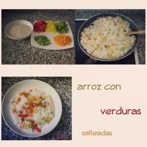 arroz verduras salteadas