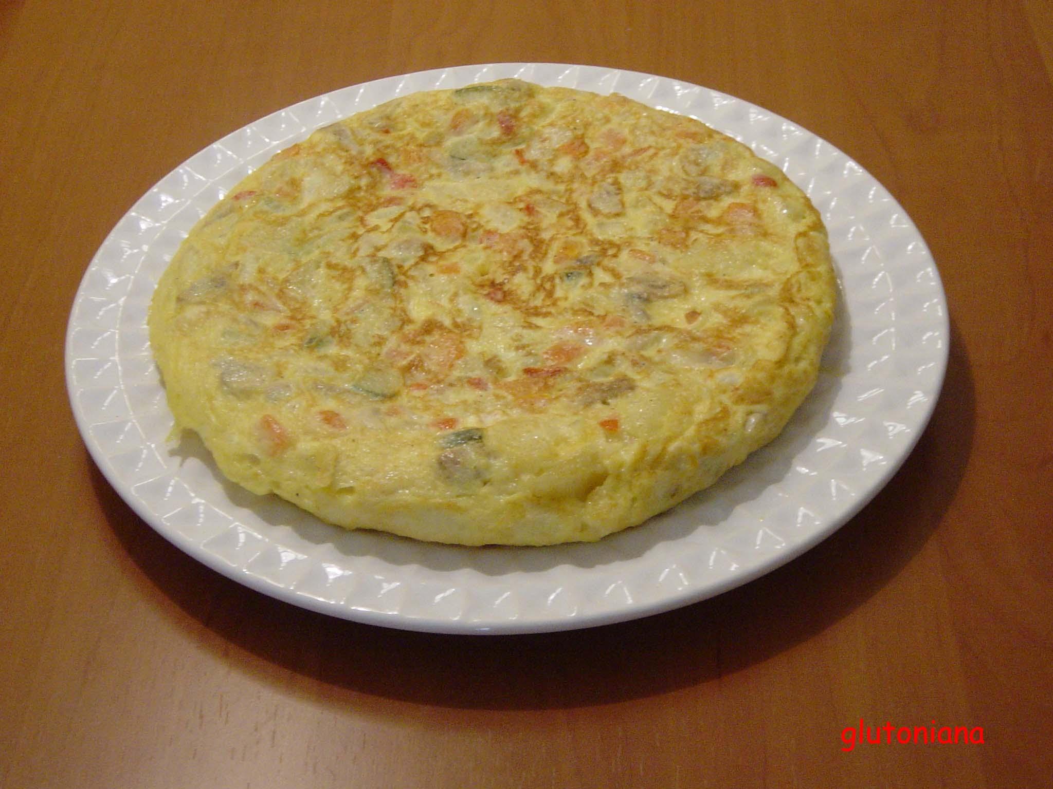Las recetas de glutoniana tortilla de verduras con queso Cocinar queso de cabra