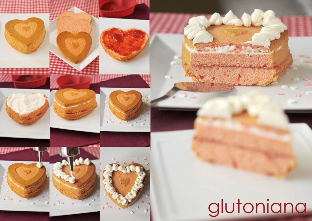pastel san valentin paso a paso - glutoniana